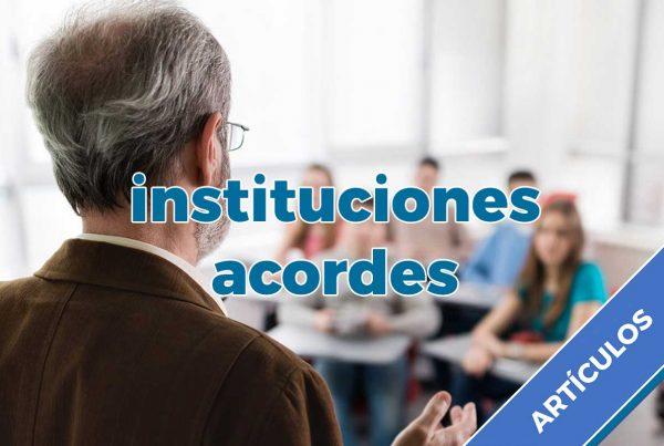 instituciones acordes