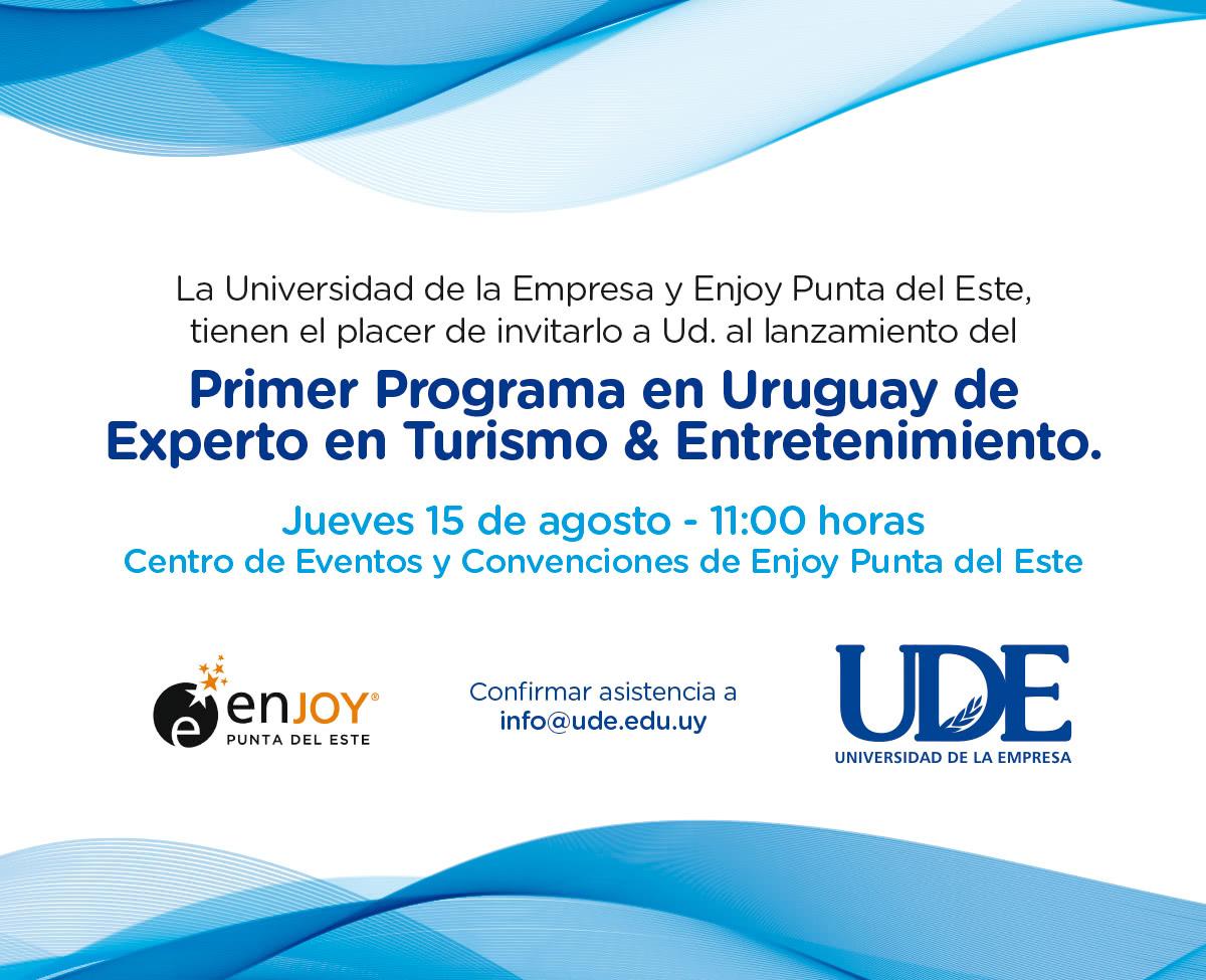 Primer Programa de Experto en Turismo y Entretenimiento