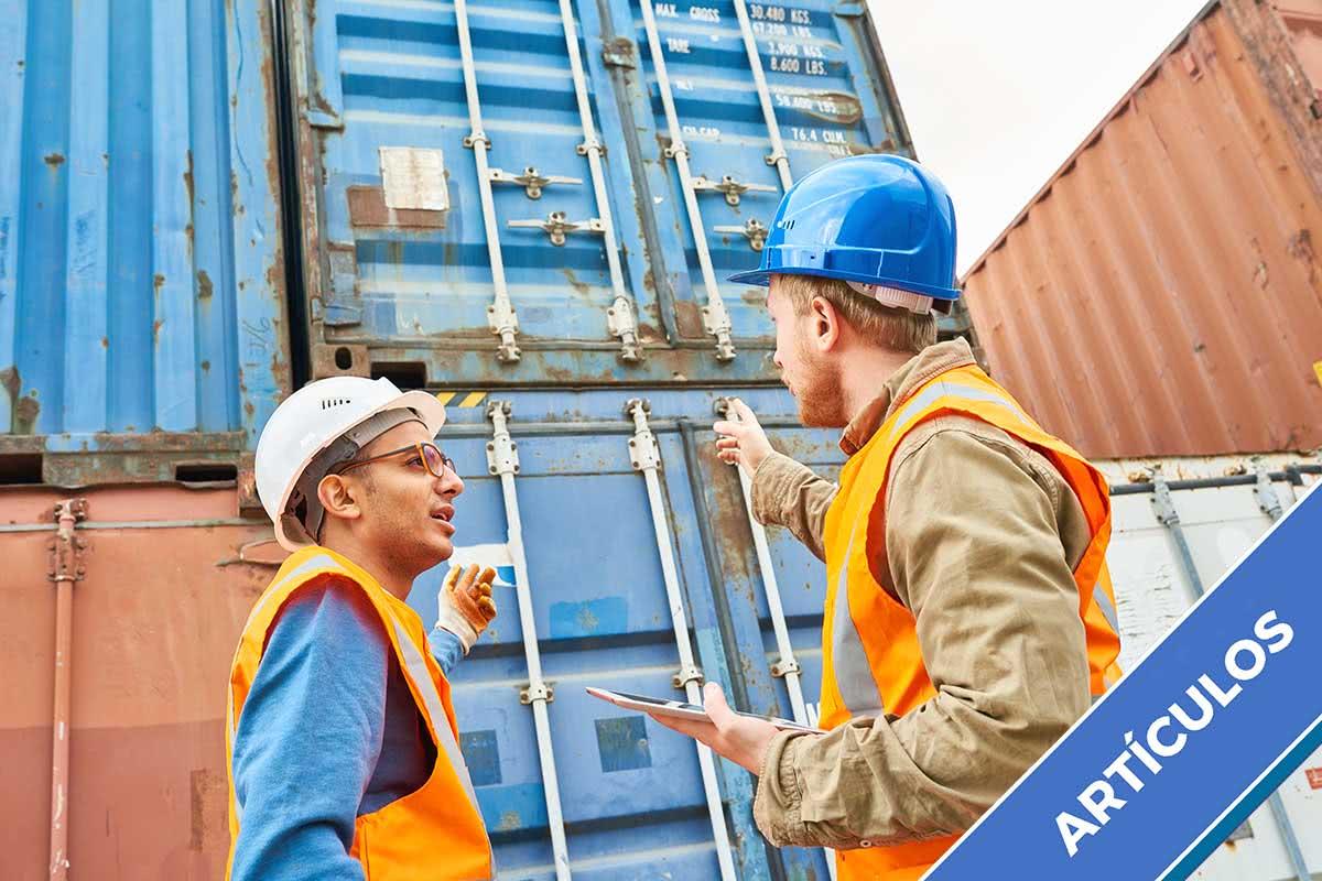 Logística a cielo abierto: <br> manejo de contenedores en el puerto