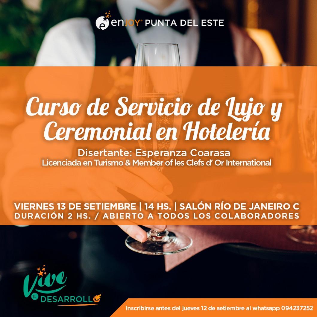 UDE – Enjoy Punta del Este <br> Servicio de Lujo y Ceremonial en Hotelería