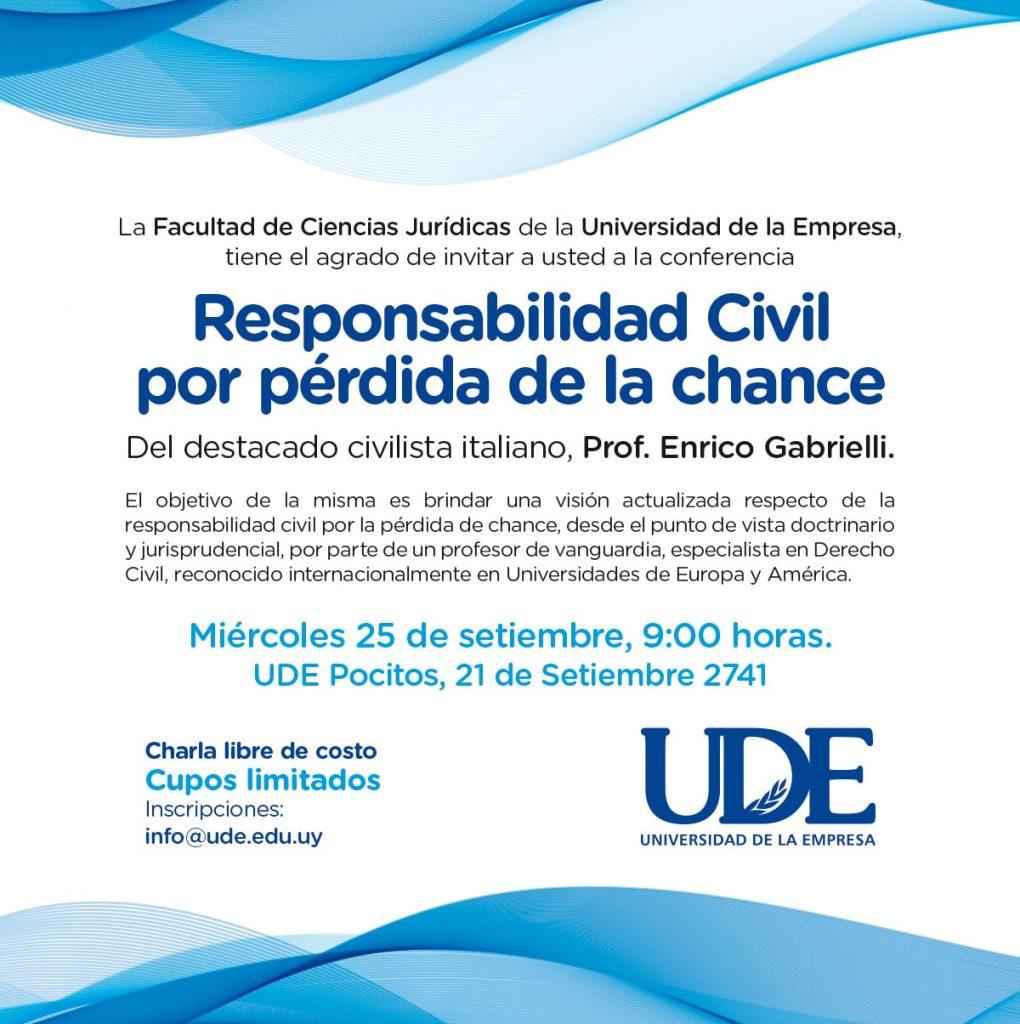 UDE Responsabilidad Civil invitacion