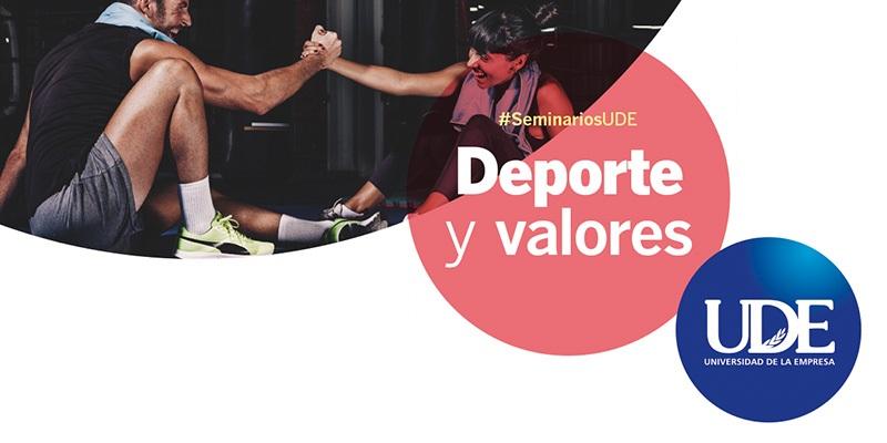 Seminario<br>Deporte y valores en UDE Pocitos<br> Lunes 18 de noviembre – 10:00 hs.
