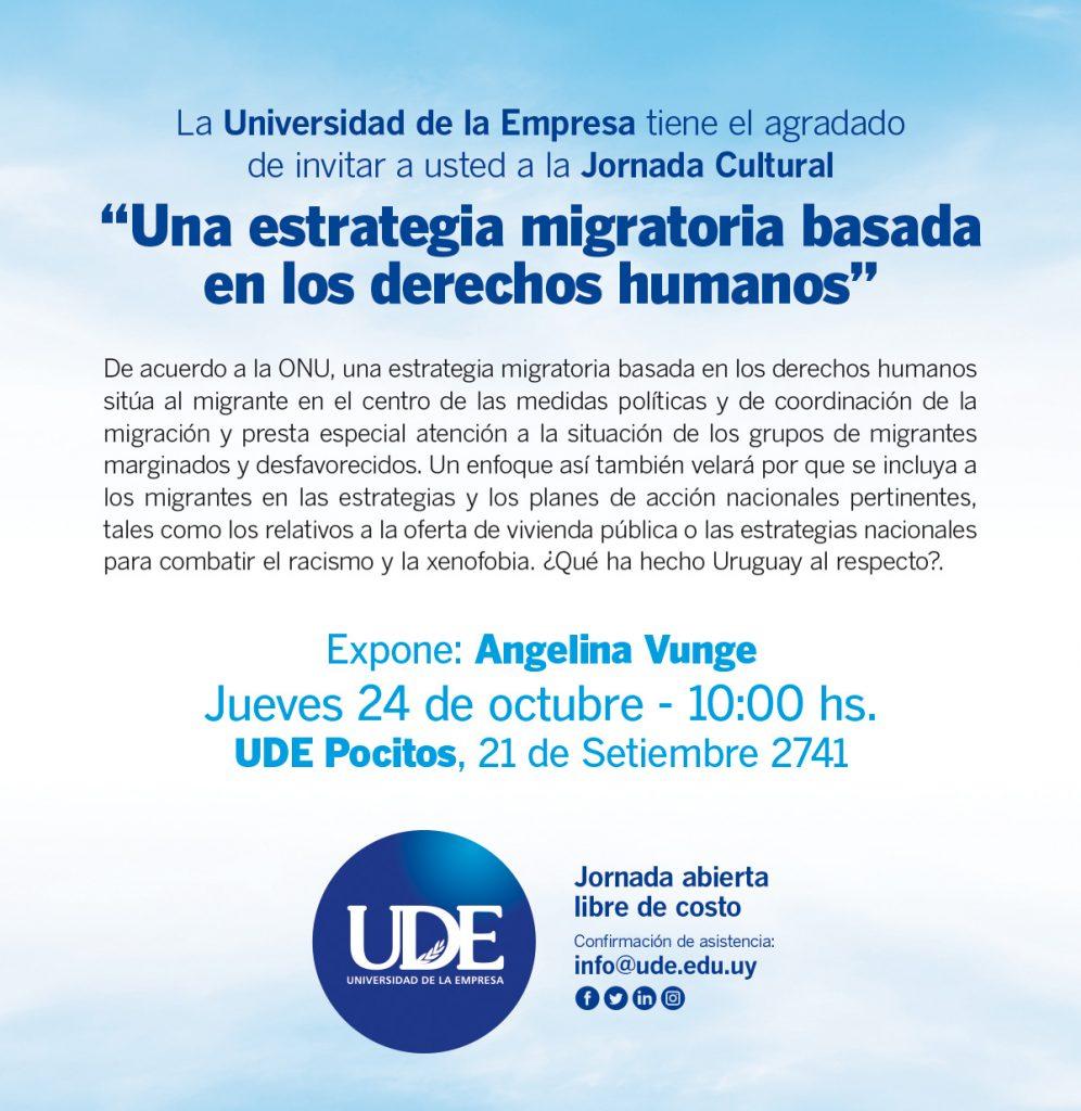 Jornada Cultural en UDE Pocitos <br> Jueves 24 de octubre - 10:00 hs. 1