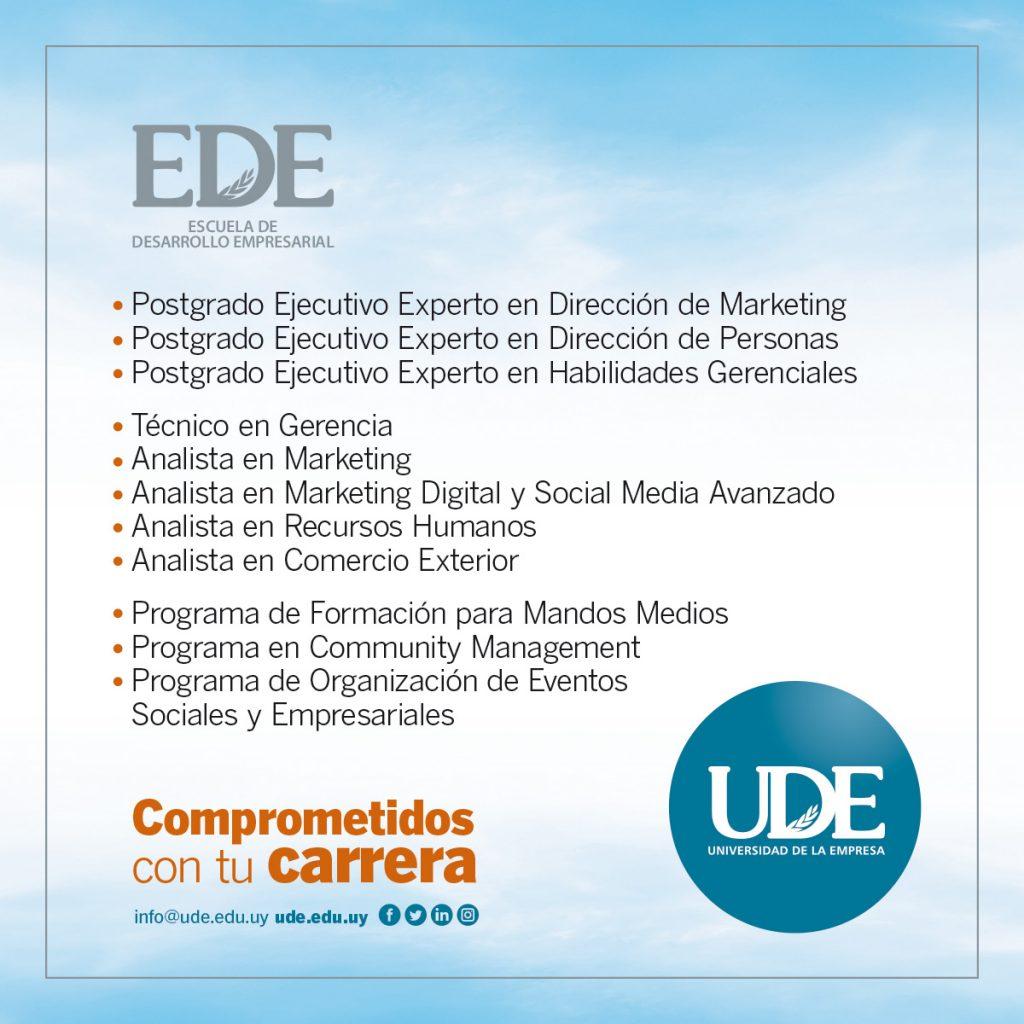Escuela de Desarrollo Empresarial <br> Inscripciones 2020 1