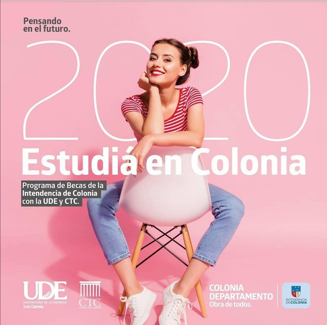 Estudiá en UDE Colonia<br> Becas 2020