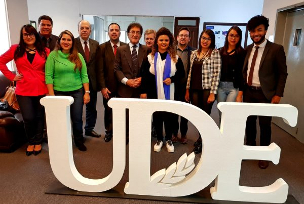 Internacionales UDE visita de LS Educacional Brasil Presidente y Rector